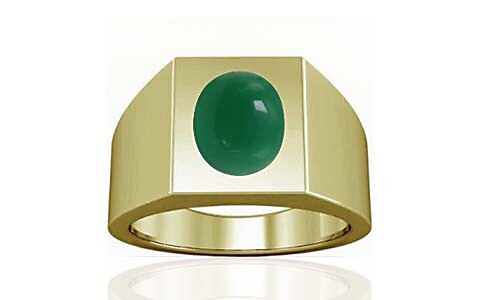 Green Onyx Panchdhatu Ring (A13)
