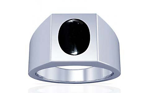 Black Onyx Silver Ring (A13)