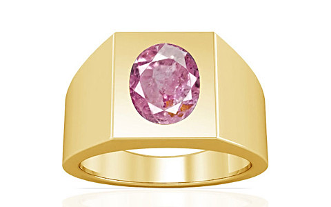 Pink Sapphire Gold Ring (A13)