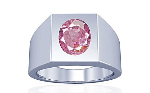 Pink Sapphire Sterling Silver Ring (A13)