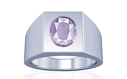 Purple Sapphire Sterling Silver Ring (A13)