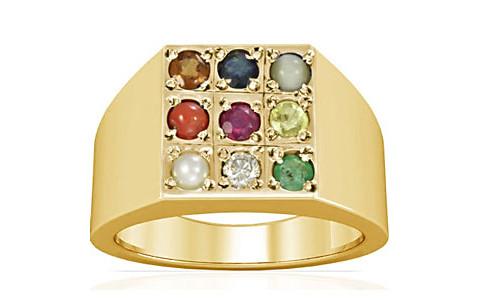 Navratna Gold Ring (A13)