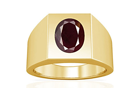 Indian Ruby Gold Ring (A13)