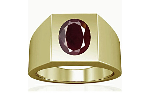 Indian Ruby Panchdhatu Ring (A13)
