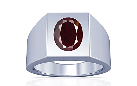 Indian Ruby Sterling Silver Ring (A13)