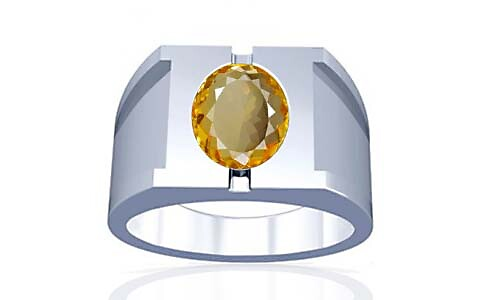 Citrine Silver Ring (A15)