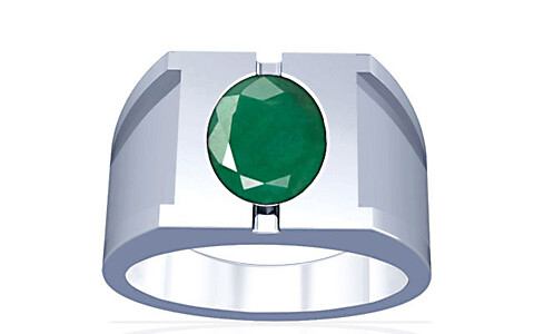 Emerald Silver Ring (A15)