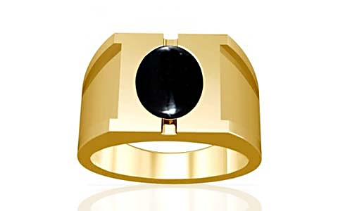 Black Onyx Gold Ring (A15)