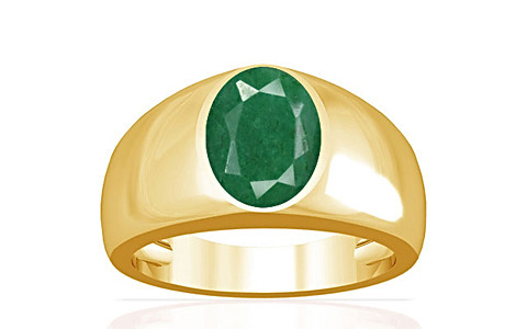 Green Beryl Gold Ring (A16)
