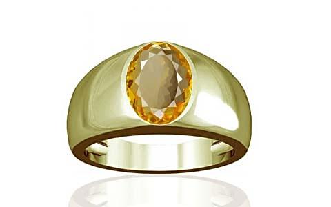 Citrine Panchdhatu Ring (A16)
