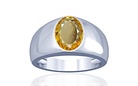 Citrine Silver Ring (A16)