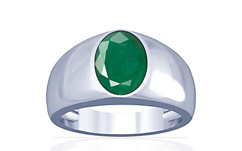Emerald Silver Ring (A16)