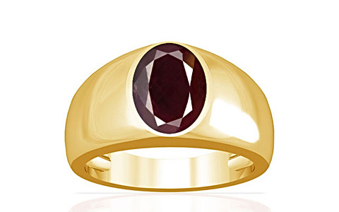 Indian Ruby Gold Ring (A16)