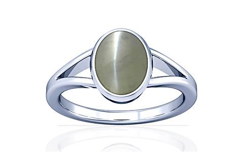 Chrysoberyl Cats Eye Silver Ring (A2)