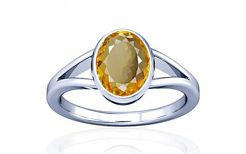 Citrine Silver Ring (A2)