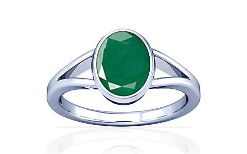 Emerald Silver Ring (A2)