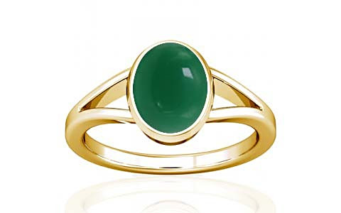 Green Onyx Gold Ring (A2)