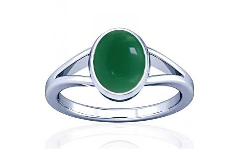 Green Onyx Silver Ring (A2)