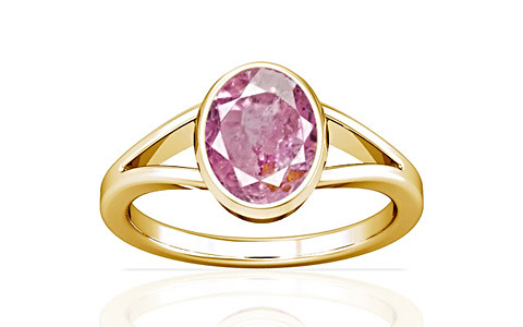Pink Sapphire Gold Ring (A2)