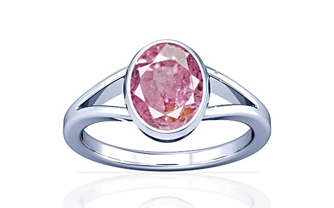 Pink Sapphire Sterling Silver Ring (A2)
