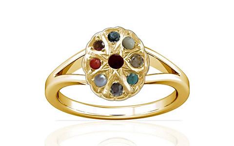 Navratna Gold Ring (A2)