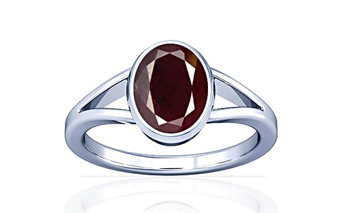 Indian Ruby Sterling Silver Ring (A2)