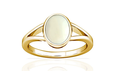 White Coral Gold Ring (A2)