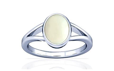 White Coral Silver Ring (A2)