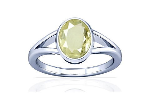 Yellow Sapphire Silver Ring (A2)