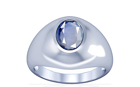 Blue Sapphire Silver Ring (A3)