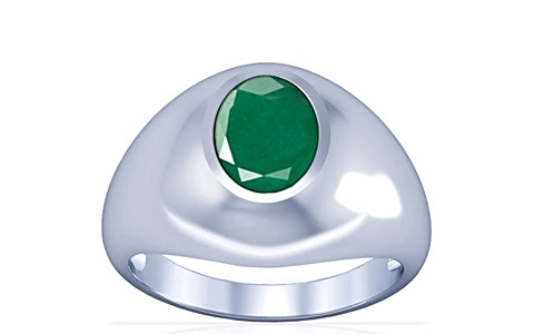 Emerald Silver Ring (A3)