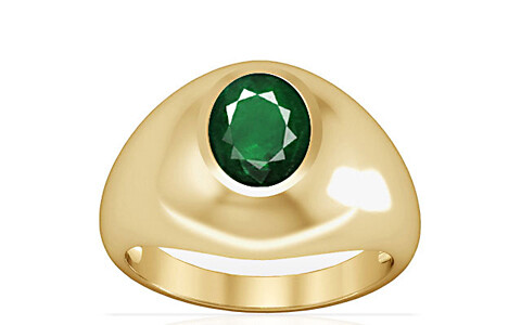 Emerald (Zambia) Gold Ring (A3)