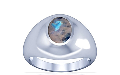 Rainbow Moonstone Silver Ring (A3)