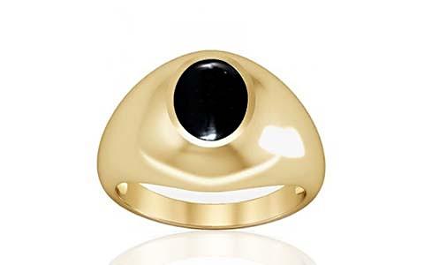Black Onyx Gold Ring (A3)