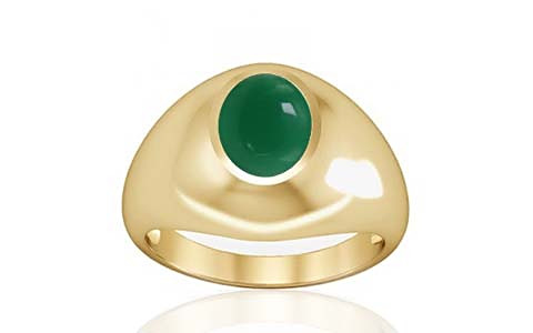 Green Onyx Gold Ring (A3)