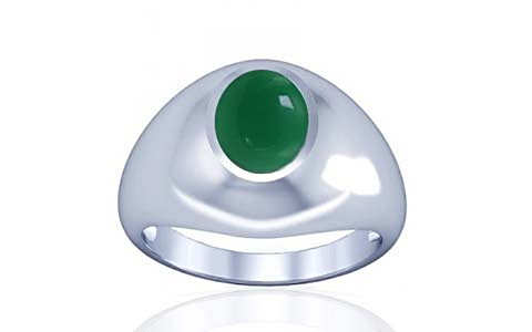 Green Onyx Silver Ring (A3)