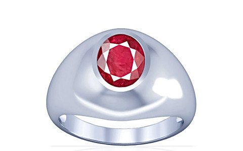 Ruby (Old Burma) Silver Ring (A3)