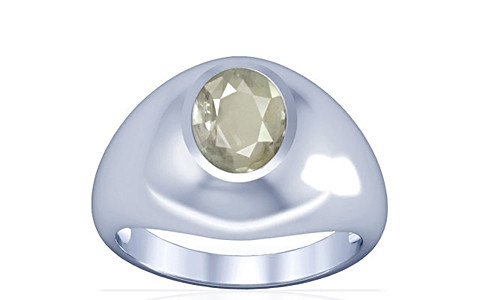 White Sapphire Silver Ring (A3)