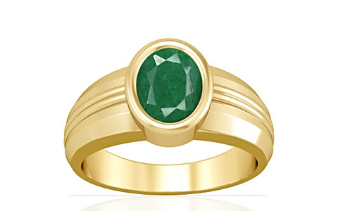 Green Beryl Gold Ring (A4)