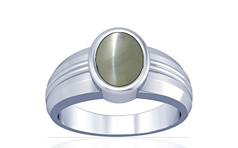 Chrysoberyl Cats Eye Silver Ring (A4)