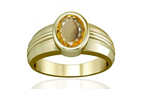 Citrine Panchdhatu Ring (A4)