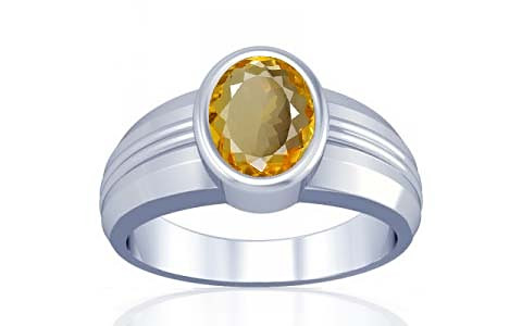 Citrine Silver Ring (A4)