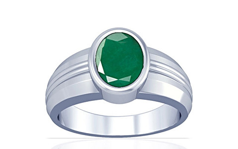 Emerald Silver Ring (A4)