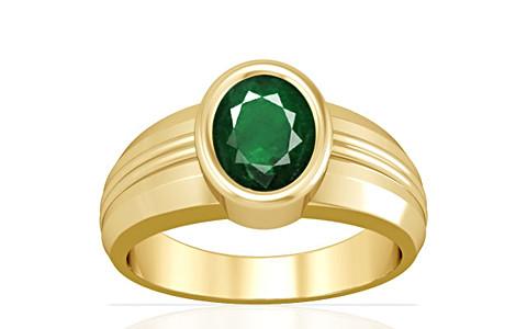 Emerald (Zambia) Gold Ring (A4)