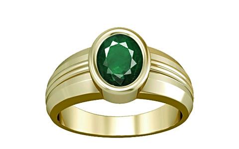 Emerald (Zambia) Panchdhatu Ring (A4)