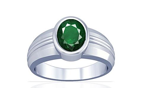 Emerald (Zambia) Silver Ring (A4)