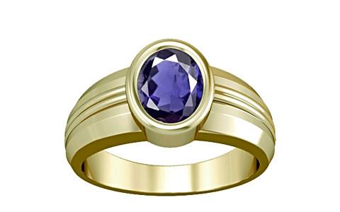 Iolite Panchdhatu Ring (A4)