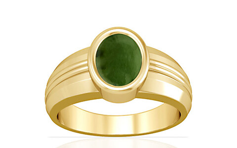 Nephrite Jade Gold Ring (A4)