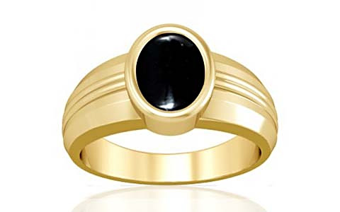 Black Onyx Gold Ring (A4)