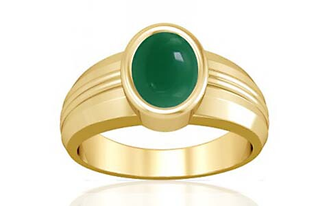 Green Onyx Gold Ring (A4)